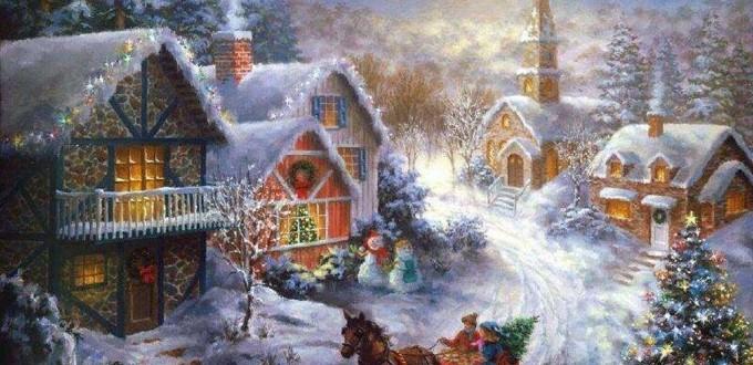 Ambiance de Noël. Auteur inconnu.